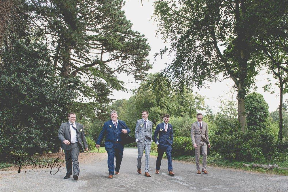 happy groomsmen Inglewood Manor wedding