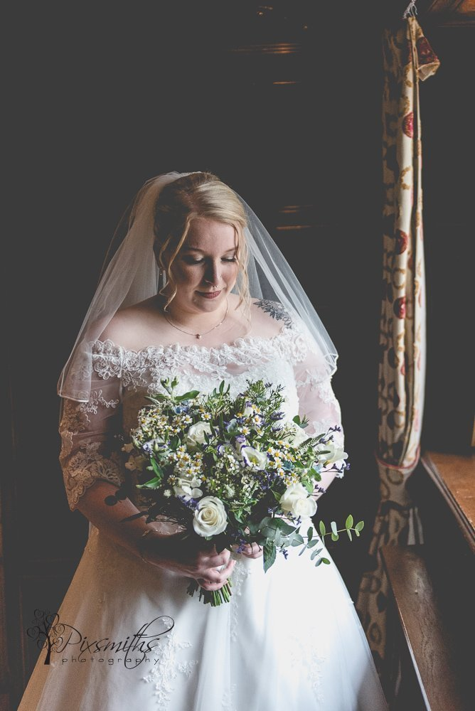 Bridal portrait pre ceremony Inglewood Manor wedding