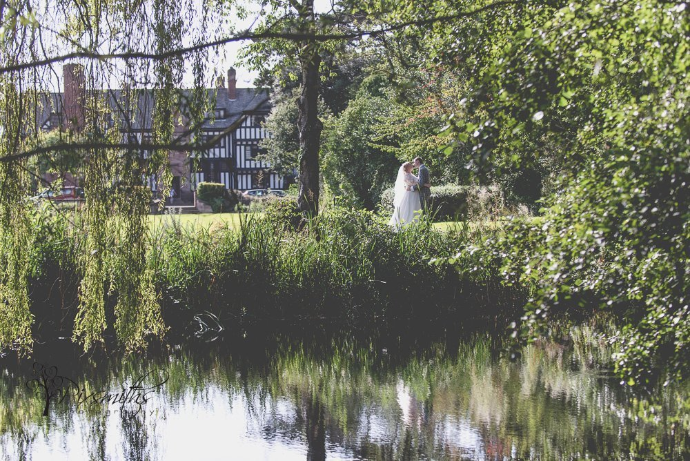 reflection wedding portrait Inglewood Manor photography