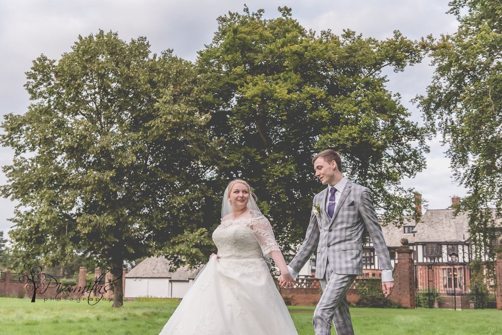 relaxed stroll after a stunning Inglewood Manor wedding