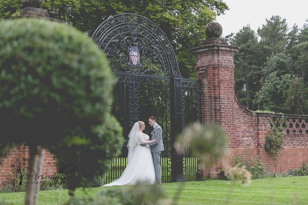 wedding portraits in grounds of Inglewood Manor