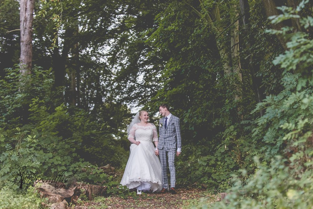 woodland walk stunning Inglewood Manor wedding