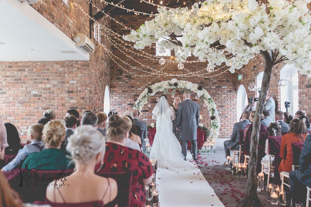 wedding ceremony Doubletree Hilton Chester wedding