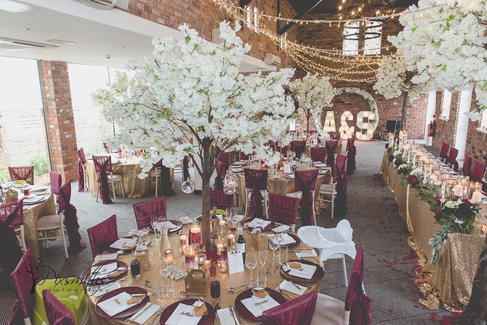 venue decoration doubletree hilton wedding reception photography