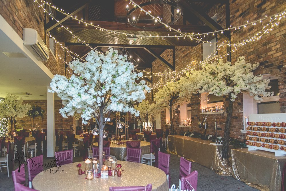 evening set up Doubletree Hilton Chester wedding Sapphire Bespoke events