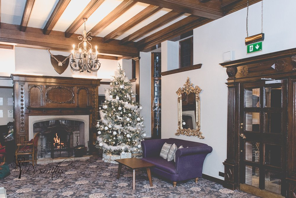 reception area Inglewood Manor Christmas time