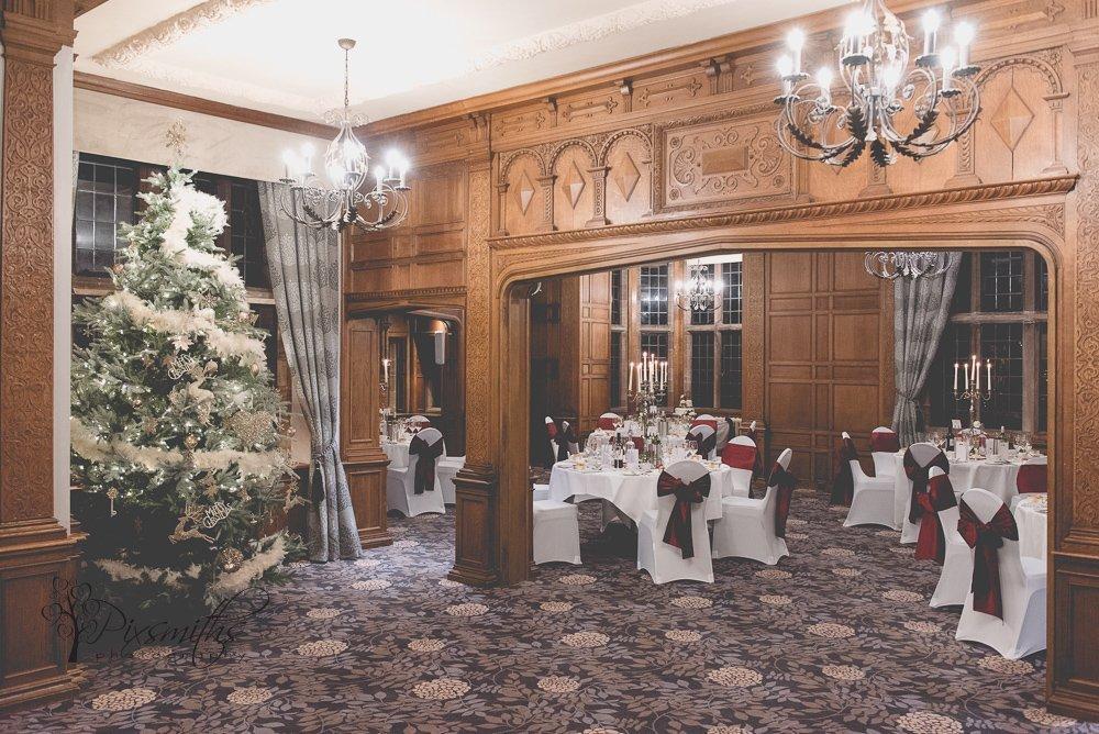 Inglewood Manor wedding reception set up