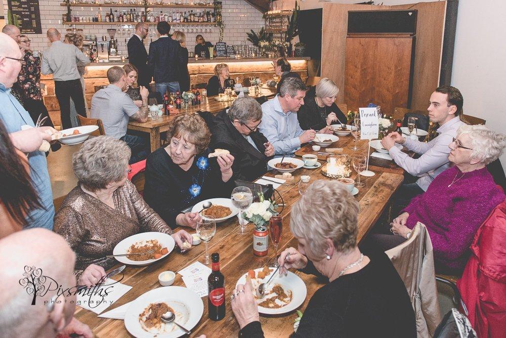 warming bowls of scouse Claremont Farm surprise wedding reception