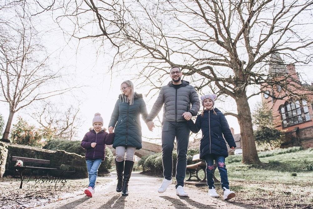 family stroll The Dell Port Sunlight