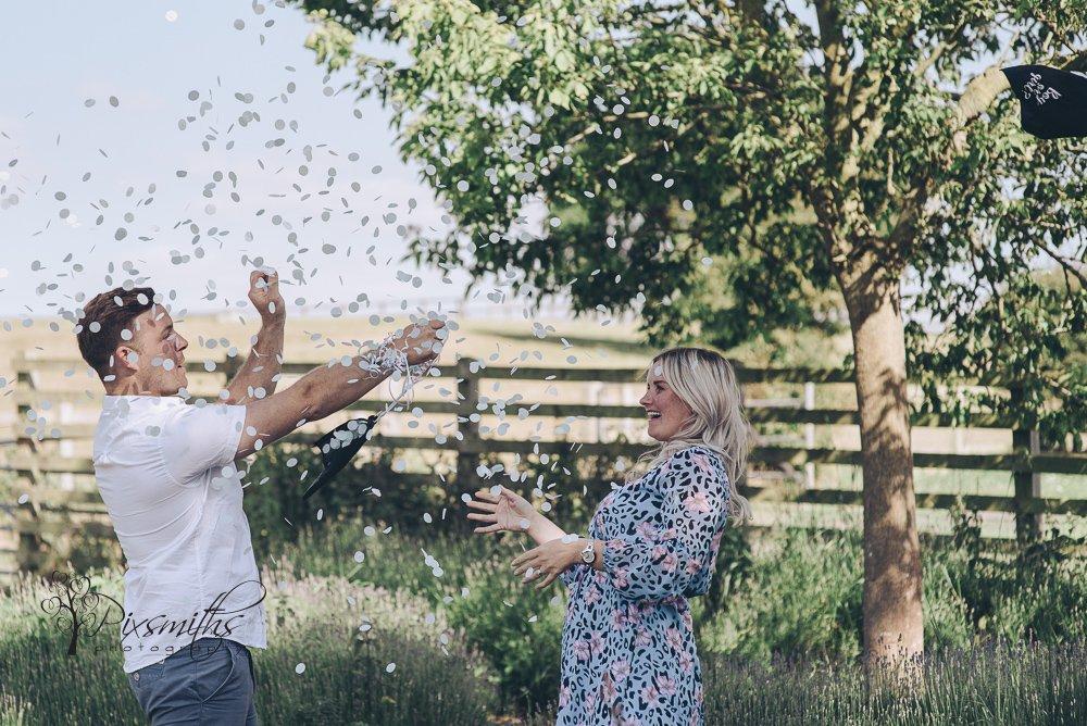 gender reveal shoot Church Farm Thurstaston