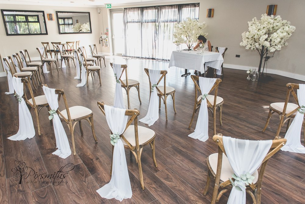 ceremony set up by Elegant event designs for small wedding at Kings Gap by Wildes