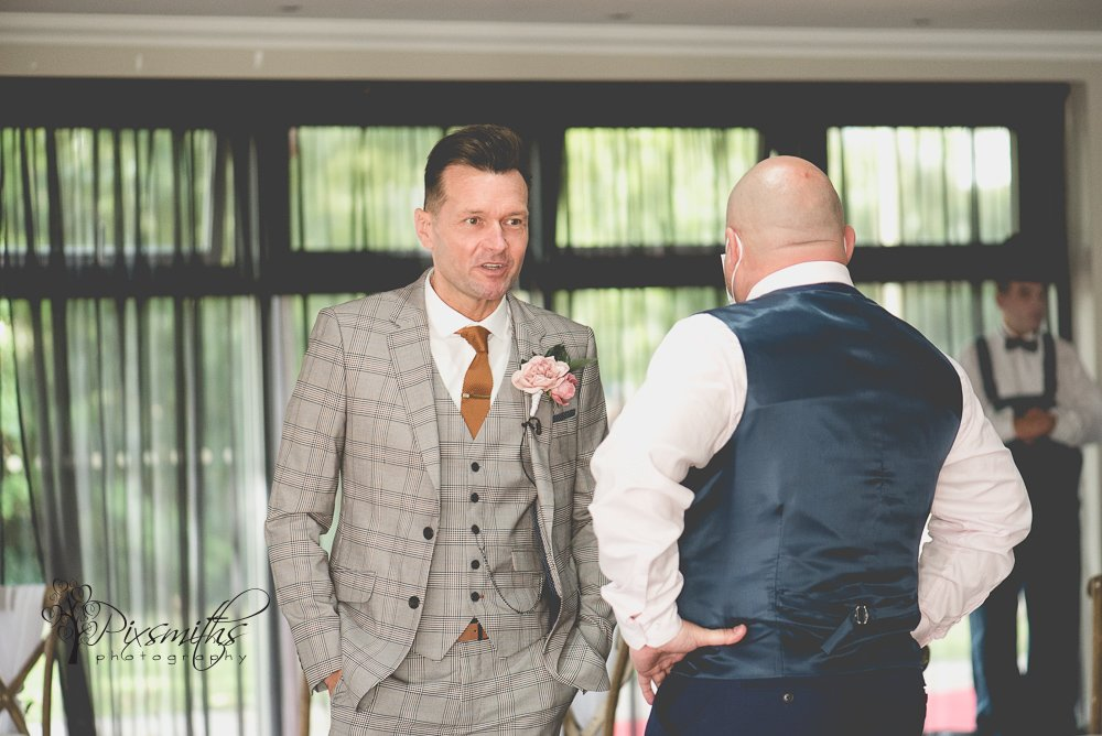 the waiting groom at Kings Gap by Wildes wedding